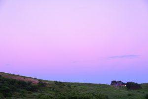 甘えたい紫の空